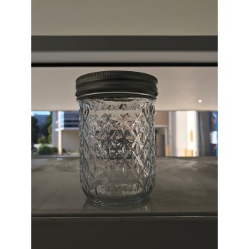 Aussie Mason Quilted 86mm (WIDE) Mouth 500ml Jars & Lids x 6