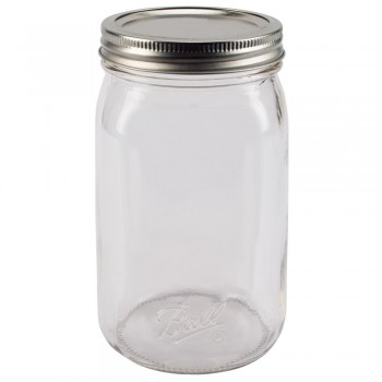 Ball Wide Mouth SMOOTH SIDED Quart Jars & Lids x 12