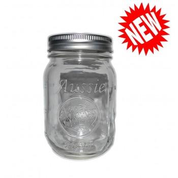 Aussie Mason CLEAR Logo 68mm Mouth (Regular) 500ml Jars & Lids  x 12  - FREE Shipping