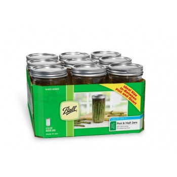 Ball Wide Mouth Pint & Half Jars & Lids x 9 - SOLD OUT MORE SOON