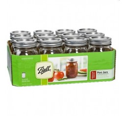 Ball Regular Mouth Pint Jars & Lids  x 12