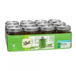 Ball Wide Mouth Pint Jars and Lids x 12