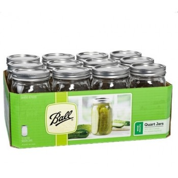 Ball Wide Mouth Quart Jars & Lids x 12